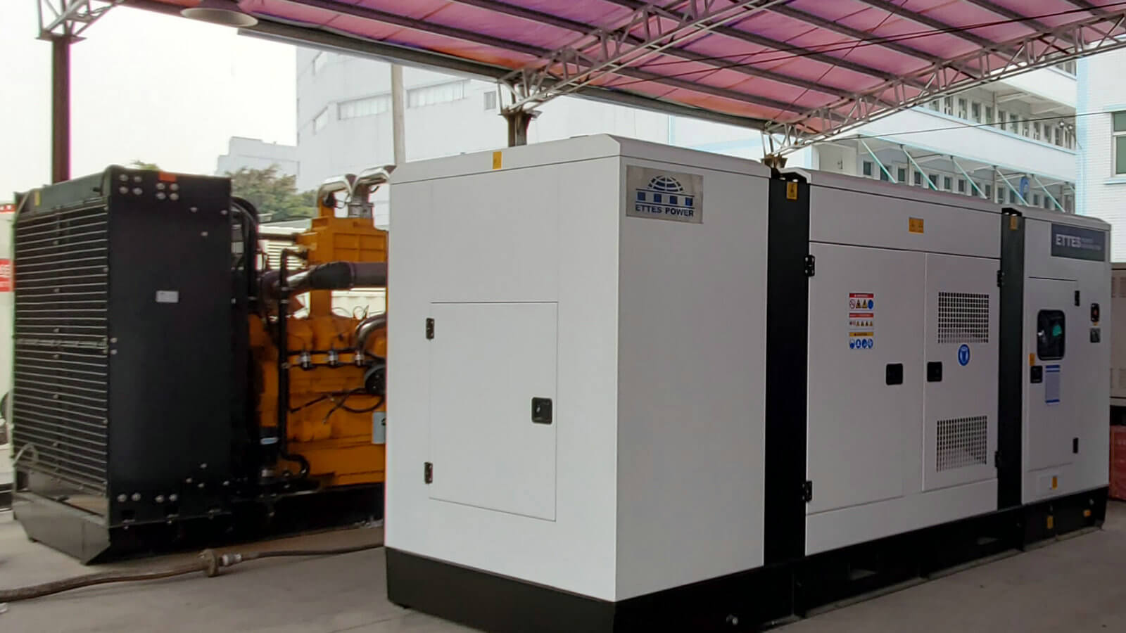 Cummins 200kw 250kva Silent Canopy Biogas Power Generation ETTES POWER