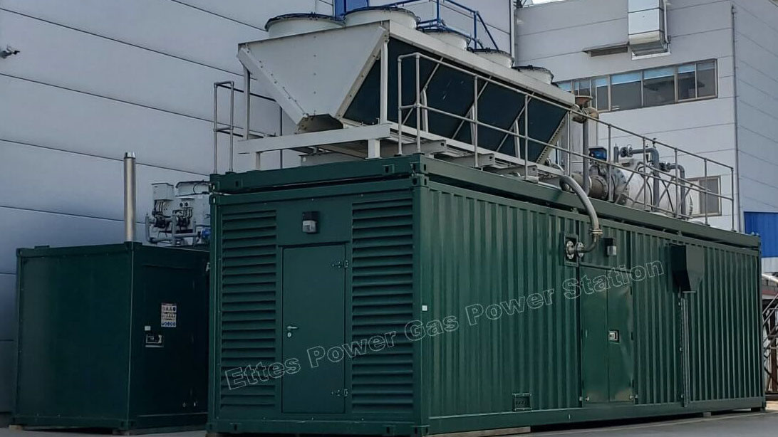 1000KW 1MW Containerized Gas Generation by MAN & MWM Engines ETTES POWER