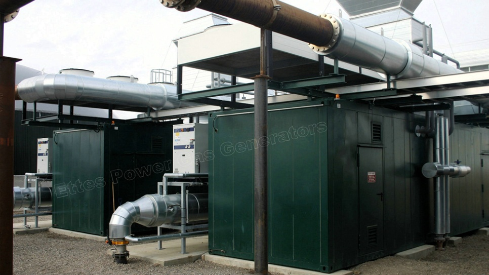 Ettes Power 500kW 1000kW CAT MAN MWM Container Gas Generator CHP Ettespower Group