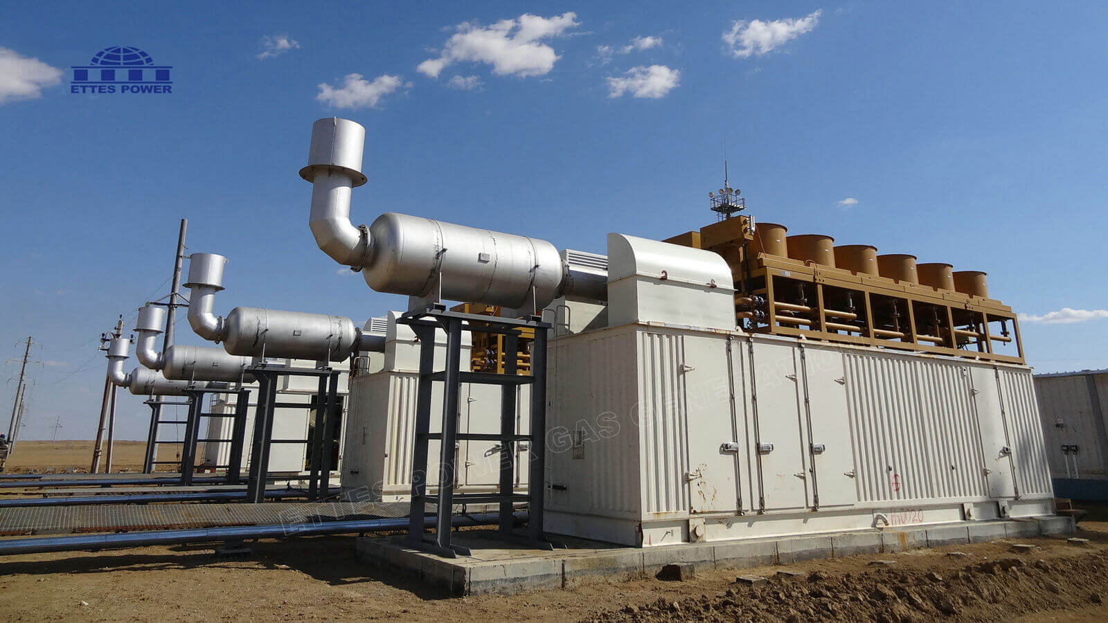 4MW Oilfield Associated Gas Power Plant in Kazakhstan