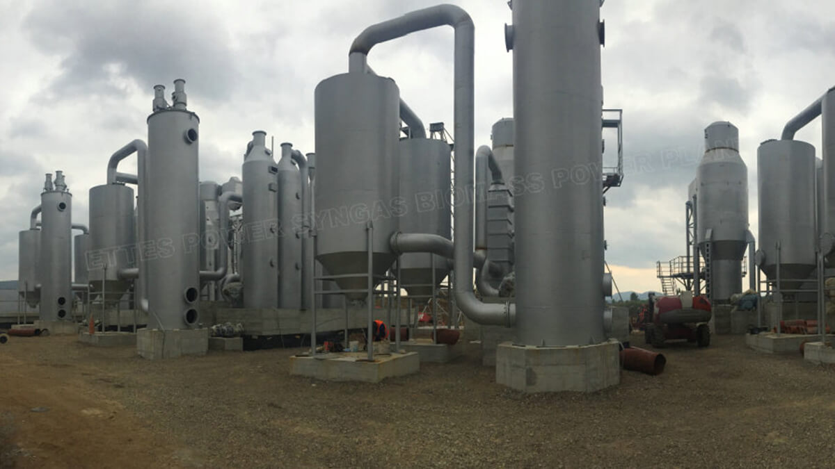 ETTES Woodgas Strawgas Gasification Gasifier 500kw 1000kw engine ETTES GROUP